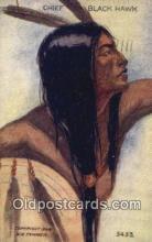 ind200502 - Chief Black Hawk Indian Postcard, Post Card