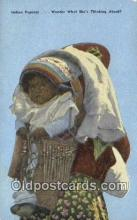 ind200505 - Indian Papoose Indian Postcard, Post Card