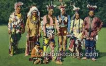 ind200516 - Group of Oklahoma Indians Indian Postcard, Post Card
