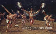 ind200517 - Cherokee Indian Ealge Dance Indian Postcard, Post Card