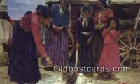 ind200524 - Navajo Women, Hogans Indian Postcard, Post Card