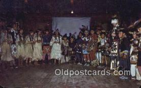 ind200527 - Nez Perce Indian Ceremonial, War Dances Indian Postcard, Post Card