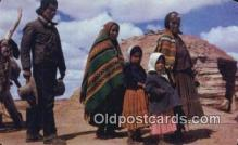 ind200528 - Navaho Family Indian Postcard, Post Card