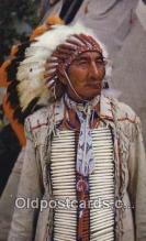 ind200540 - Indian Chief Knife Indian Postcard, Post Card
