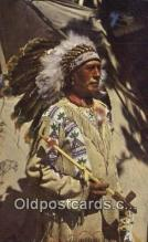 ind200541 - Chief Running Horse Indian Postcard, Post Card