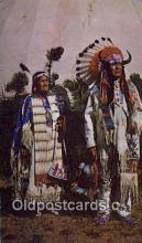 ind200542 - Chief Benjamin & Wife Indian Postcard, Post Card