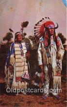 ind200551 - Chief Benjamin & Wife  Postcard Post Cards