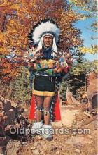 ind200555 - Indian Chief in Full Dress Costume  Postcard Post Cards