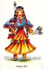 ind200560 - Indian Doll  Postcard Post Cards