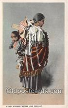 ind200576 - Navaho Woman & Papoose  Postcard Post Cards