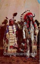 ind200593 - Chief Benjamin & Wife  Postcard Post Cards