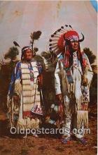 ind200602 - Chief Benjamin & Wife  Postcard Post Cards