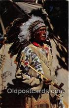 ind200609 - Chief Running Horse  Postcard Post Cards