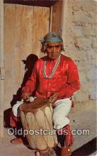 ind200613 - Pueblo Indian Drummer Cochiti Pueblo, New Mexico, USA Postcard Post Cards