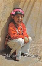 ind200617 - Five Year Old Hopi Boy Color Courtesy Santa Fe Railway Postcard Post Cards