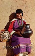 ind200618 - Maria, Famous Pottery Maker San Idefonson Pueblo, New Mexico, USA Postcard Post Cards