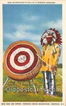 ind200638 - Exhibition of Skill, Bow & Arrow Cherokee, NC, USA Postcard Post Cards