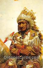 ind200640 - Old Indian Chief Color by Franklin Photo Agency Postcard Post Cards