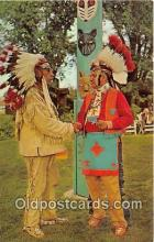 ind200668 - Meeting of Chiefs, Chief Loud Voice of Tuscaroras, Chief Light Foot Talking Eagle Northeastern Pennsylvania, USA Postcard Post Cards