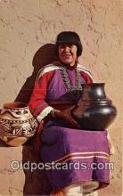 ind200673 - Maria, Famous Pottery Maker San Idefonson Pueblo, New Mexico, USA Postcard Post Cards