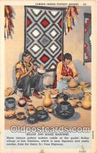 ind200687 - Indian Pottery Makers, Julian & Marie Martinez Santa Fe, Taos Highway Postcard Post Cards