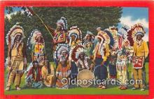 ind200704 - Indians in Ceremonial Dress Long Island, NY, USA Postcard Post Cards
