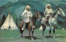 ind200728 - Indian Chiefs in a Native Setting Color by Bob & Ira Spring Postcard Post Cards