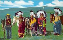 ind200733 - Sioux Indian Chiefs Indian Reservation, SD, USA Postcard Post Cards