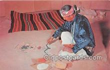 ind200741 - Navajo Sand Painter Color by Western Ways Features Postcard Post Cards
