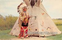 ind200744 - Standing Eagle George Bryan & Buffalo Hide Tipi  Postcard Post Cards