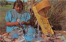 ind200758 - Apache Bead Maker Photography by Western Ways Features Postcard Post Cards