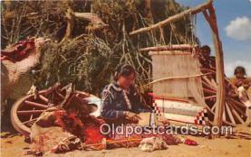 ind200759 - Navajo Rug Weaver  Postcard Post Cards