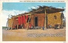 ind200768 - Chili Red Pepper Drying Santa Fe, New Mexico, USA Postcard Post Cards