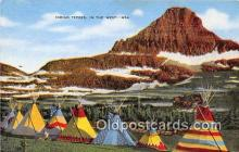 ind200773 - Indian Tepees  Postcard Post Cards