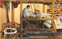 ind200777 - Chimayo Weaver at his Loom  Postcard Post Cards