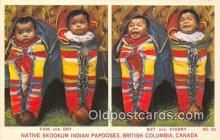 ind200783 - Native Skookum Indian Papooses British Columbia, Canada Postcard Post Cards