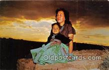 ind200785 - Navajo Indian Squaw & Papoose  Postcard Post Cards