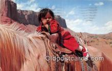 ind200822 - Monument Valley, Navajo Girl  Postcard Post Cards