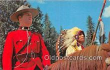 ind200827 - Officer of the Royal Canadian Mounted Police  Postcard Post Cards
