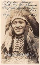 ind300004 - Chief Joe Secakuka Chief Yellowfeet Postcard Post Cards