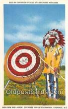 ind300009 - Exhibition of Skill, Bow & Arrow Cherokee, NC, USA Postcard Post Cards