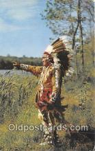 ind300013 - Northwoods Native in Full Regalia  Postcard Post Cards