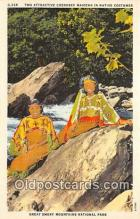 ind300015 - Cherokee Maidens, Native Costumes Great Smoky Mountains National Park, USA Postcard Post Cards