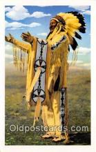 ind300019 - Chief Whitecalf of the Blackfeet Reservation Grand Teton National Park, USA Postcard Post Cards