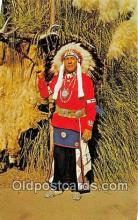ind300049 - Chief Red Feather Navao Sioux Indian, Knott's Berry Farm Postcard Post Cards
