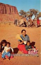 ind300057 - Navajo Mother 7 Children Northern Arizona, USA Postcard Post Cards