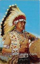 ind300068 - Blue Sky Eagle, Ceremonial Dress Pueblo Indians Postcard Post Cards