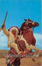 ind300097 - Indian & His Horse Photo by Harvey Caplin Postcard Post Cards