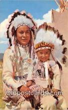 ind300112 - Chief & Papoose  Postcard Post Cards