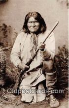 ind300121 - Geronimo, Apache Leader Refused to Surrender to Gen Crook, 1886 Postcard Post Cards